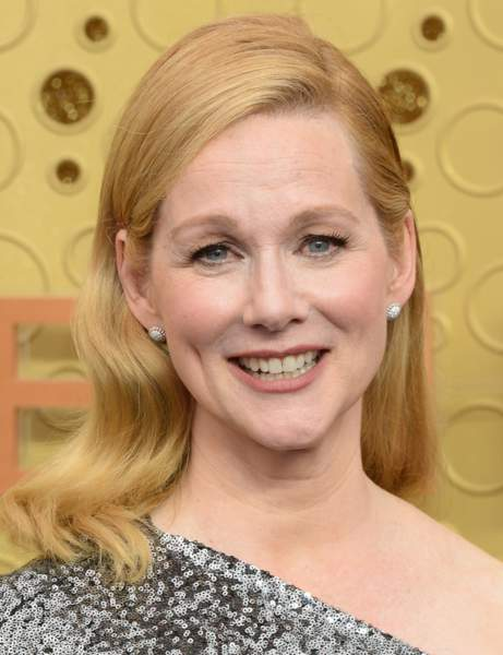Laura Linney's long notched square