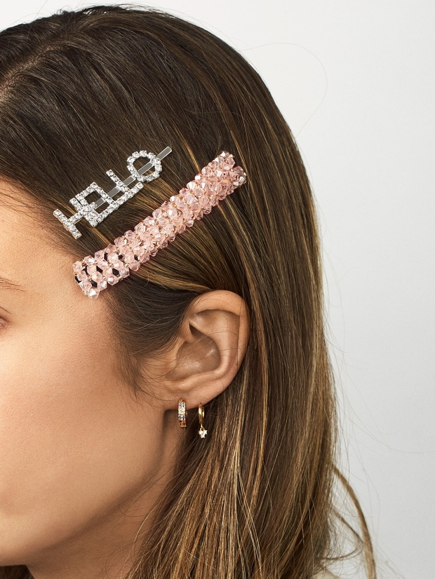 barrettes with message