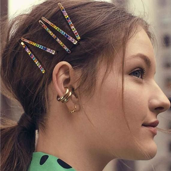 cute hairstyles with barrettes