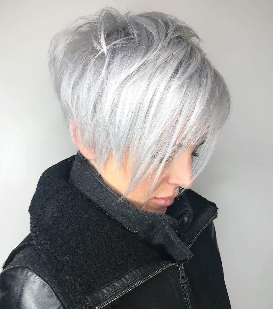 haircut ideas for white hair